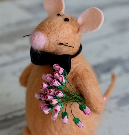 Mouse Decoration, Valentine's Day Gift